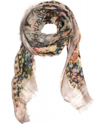 Scarf Light All Over Rose Square Foulard Scarf