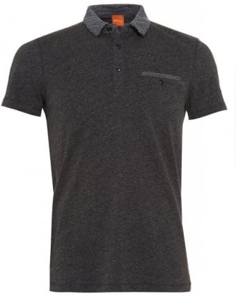 'Pilippo' Dark Grey Regular Fit Polo Shirt
