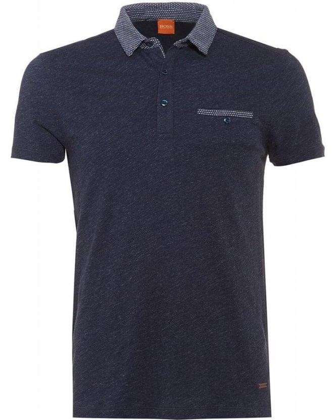 Hugo Boss Orange 'Pilippo' Navy Regular Fit Polo Shirt