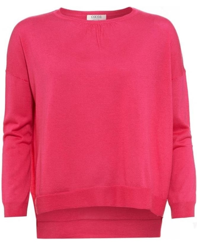 Cocoa Cashmere Pink Celeste Featherweight Loose Fit Jumper