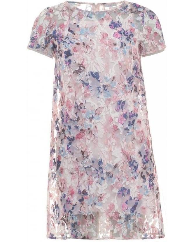 I Blues Pink Multi Floral Shift 'Xavier' Dress