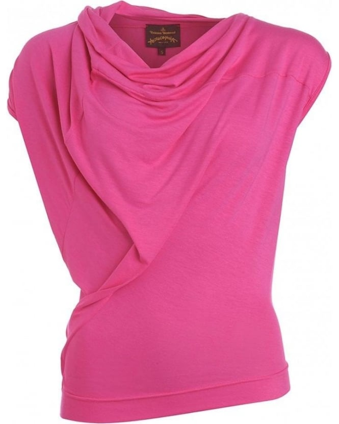 Vivienne Westwood Anglomania Pink Plain Jersey Top