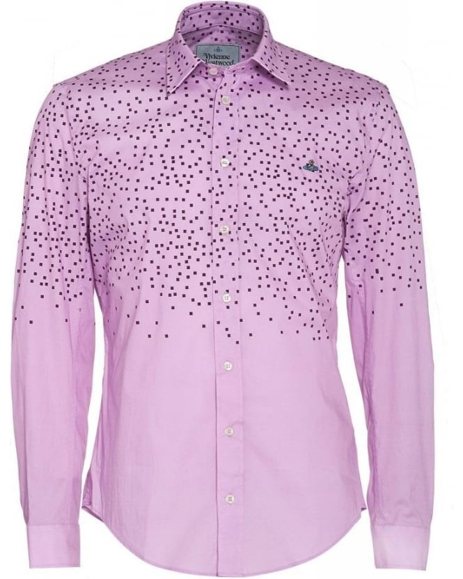 Vivienne Westwood Man Pink Slim Fit Pixelated Shirt