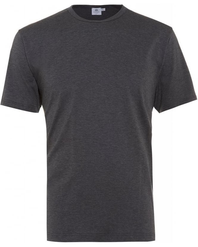 Sunspel Plain Charcoal Grey Classic Fit T-Shirt