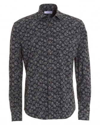Mens Charcoal Grey Climbing Floral Shirt