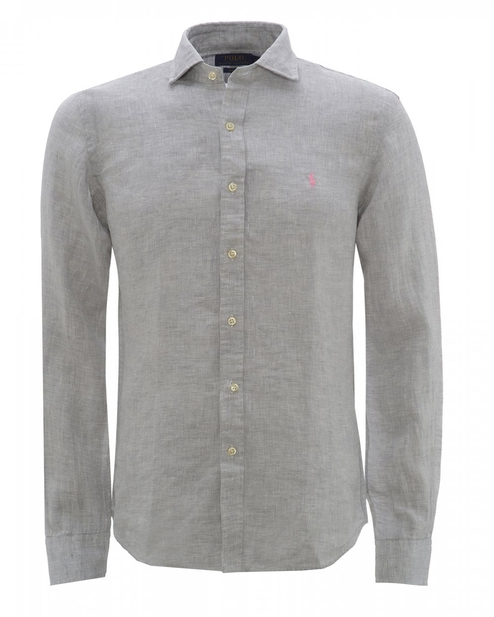 Ralph Lauren Boys Custom-Fit Linen-Shirt