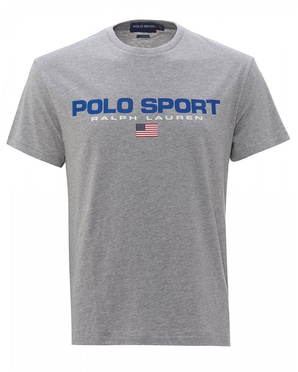 Ralph Lauren Mens Polo Sport T-Shirt, Grey