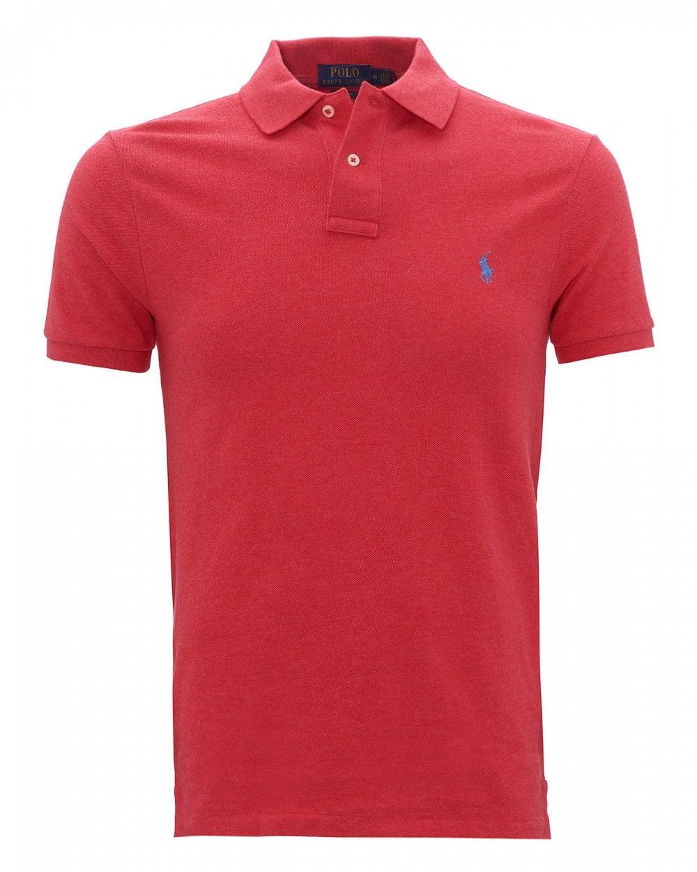 Polo Ralph Lauren Mens Logo Heather Polo Shirt