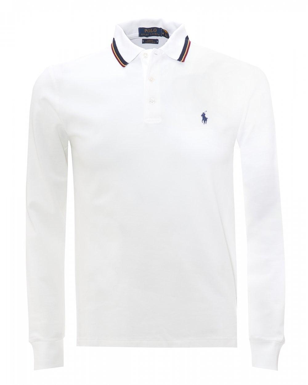 mens white polo shirt ralph lauren