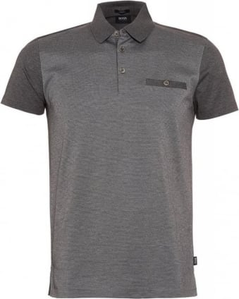 Polo Shirt, 'Ancona 21' Grey Slim Fit Polo