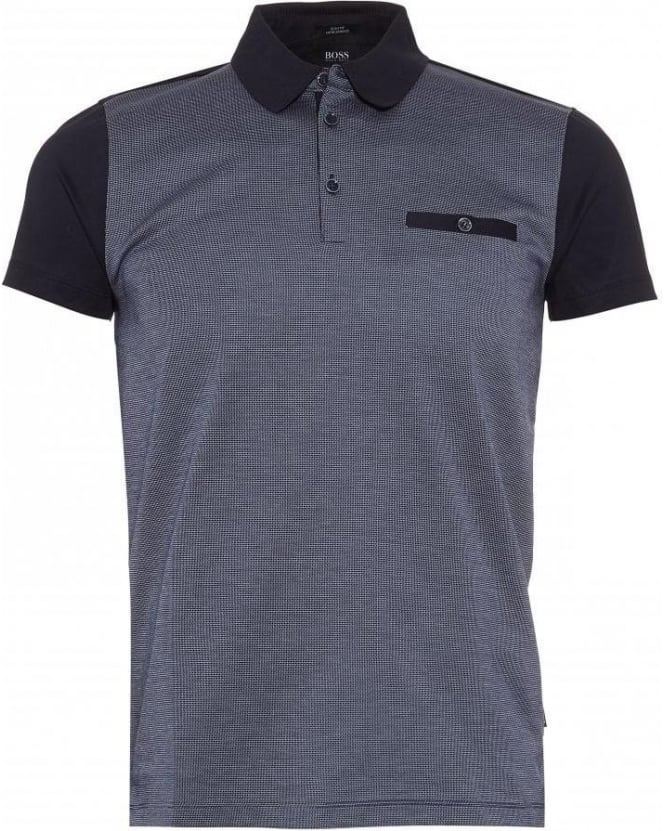 Hugo Boss Black Polo Shirt, 'Ancona 21' Navy Slim Fit Polo