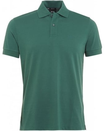 Polo Shirt, Green Firenze Logo Modern Essential Polo