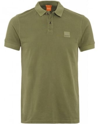 Polo Shirt, Green Slim Fit Pique Pascha Polo