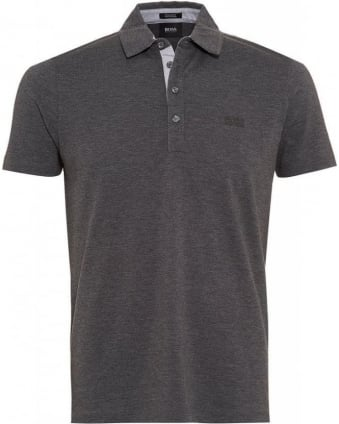 Polo Shirt, Grey 'Firenze 51' Pique Polo