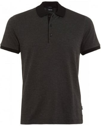 Polo Shirt, Grey 'Paullo 01' Slim Fit Cotton Polo