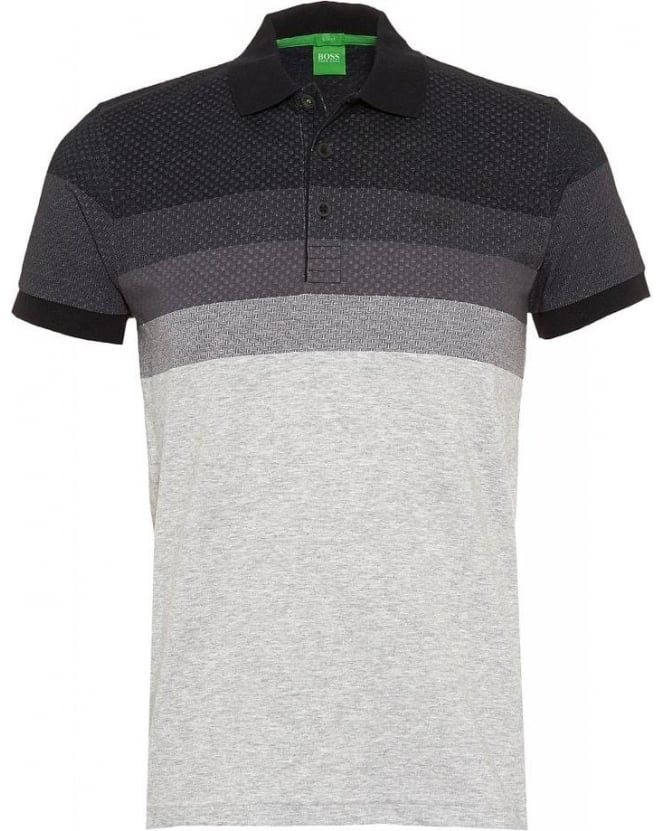 Hugo Boss Green Polo Shirt 'Paule 3' Black Chest Pattern Polo