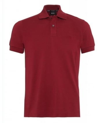 Polo Shirt, Pink 'Firenze Logo' Pique Polo
