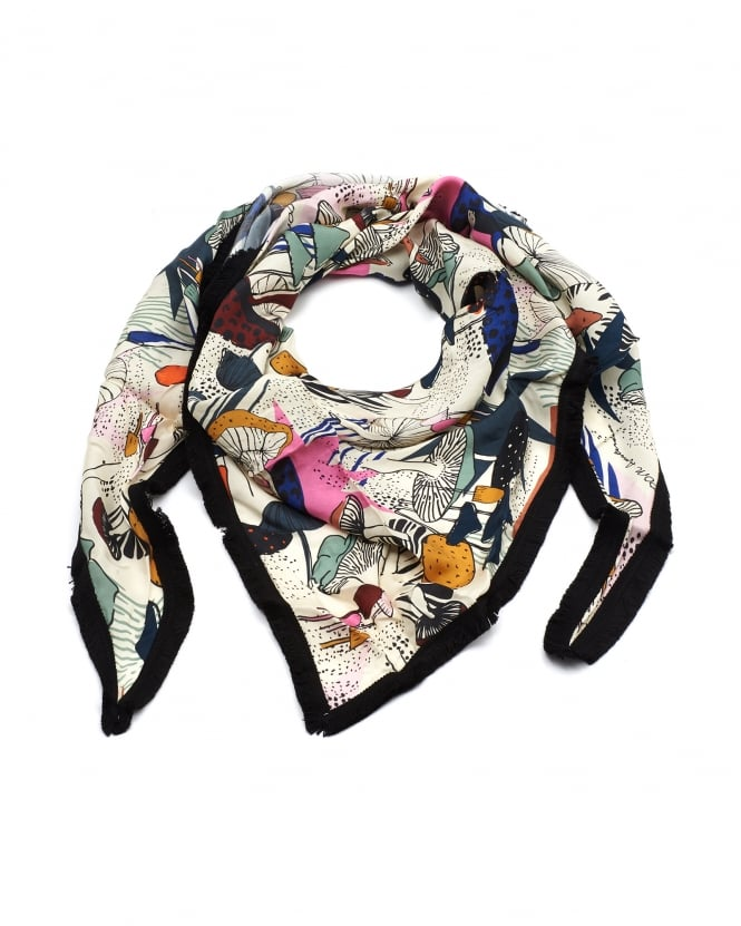 POM Womens Shawl, Forest Walk Print Multi Scarf