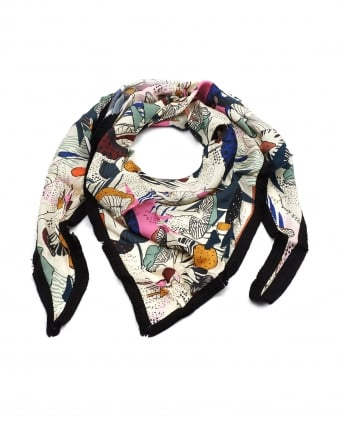 Womens Shawl, Forest Walk Print Multi Scarf