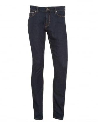 Mens Ronnie Jeans, Dark LA Rinse Slim Fit Denim