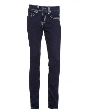 Mens Rocco Super T Relaxed Dark Ink Skinny Jeans