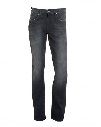 Mens Slimmy Jeans, Grey Faded Wash Slim Fit Denim