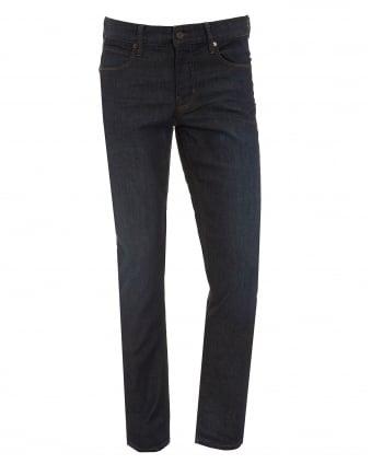 Mens Orange63 Jeans, Slim Fit Dark Crease Navy Denim