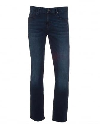 Mens Orange63 Jeans, Slim Fit Super Stretch Dark Whisker Denim