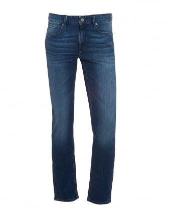 Mens Orange63 Jeans, Slim Fit Mid Whisker Stretch Denim