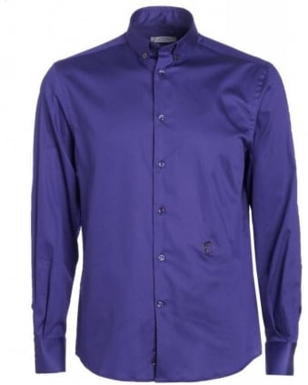 Purple Plain Button Down Shirt