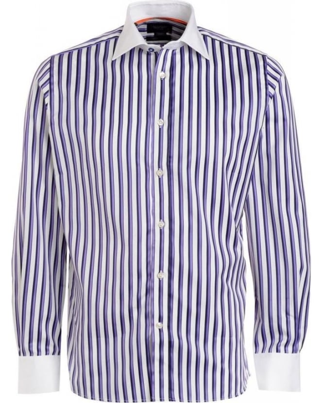 Duchamp Purple Stripe Long Sleeve Shirt