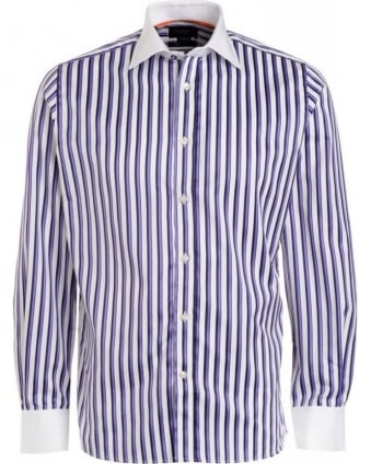 Purple Stripe Long Sleeve Shirt