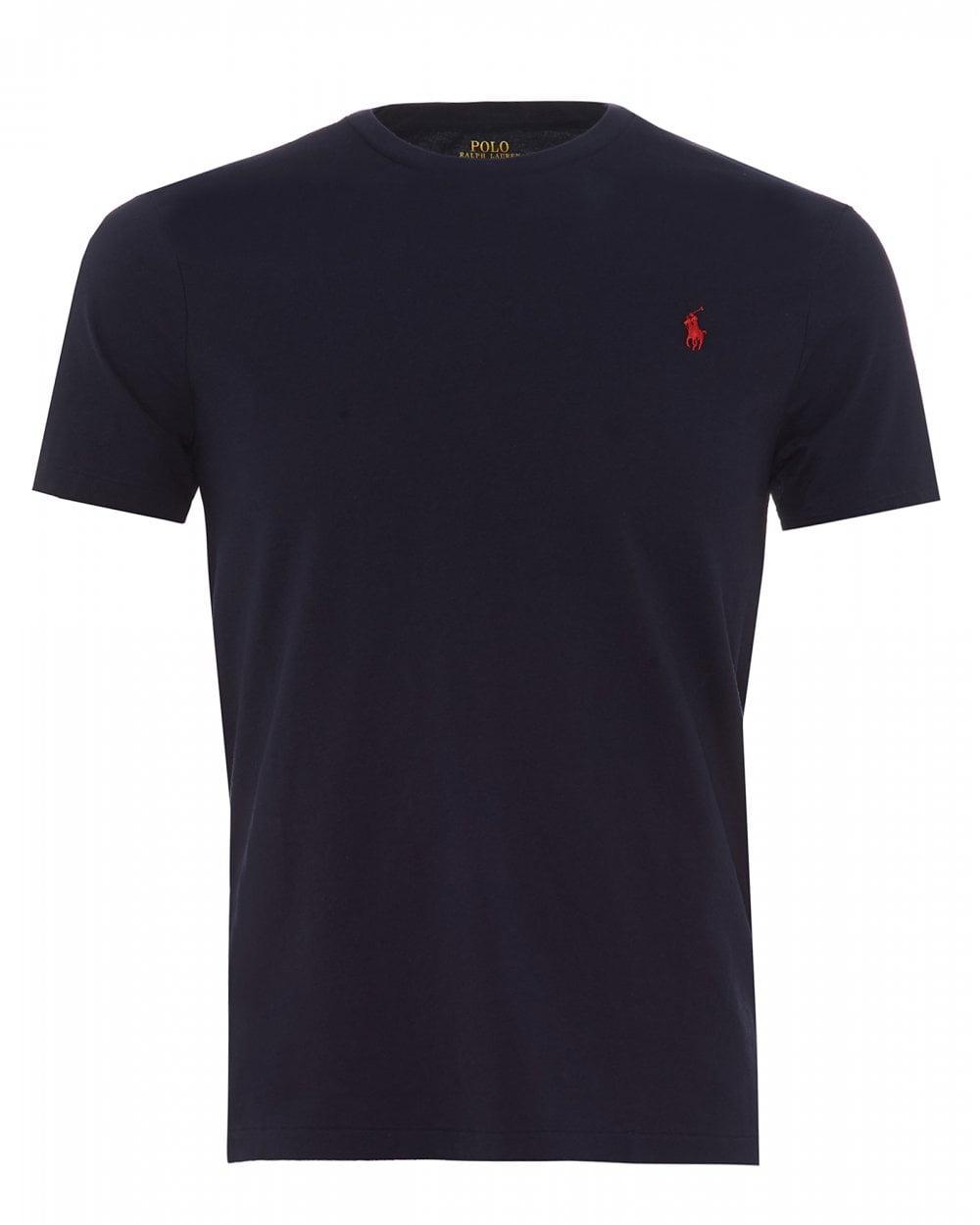 f5d8639bb Ralph Lauren Mens Basic Logo T-Shirt, Ink Blue Tee