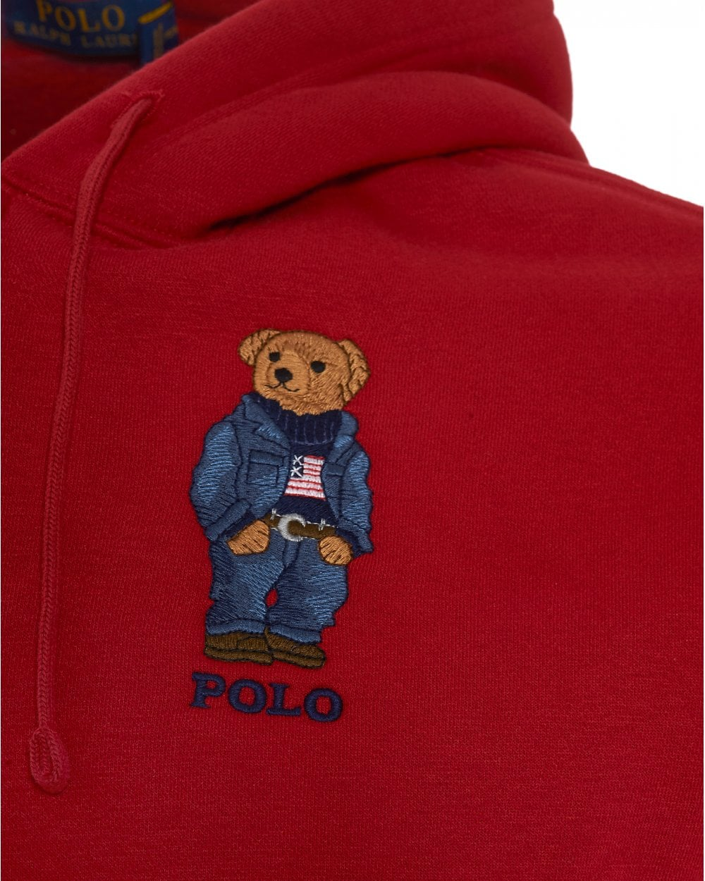 Bear Zip Mens Polo Sweatshirt HoodieRalph Red Hooded bf7v6YIgy
