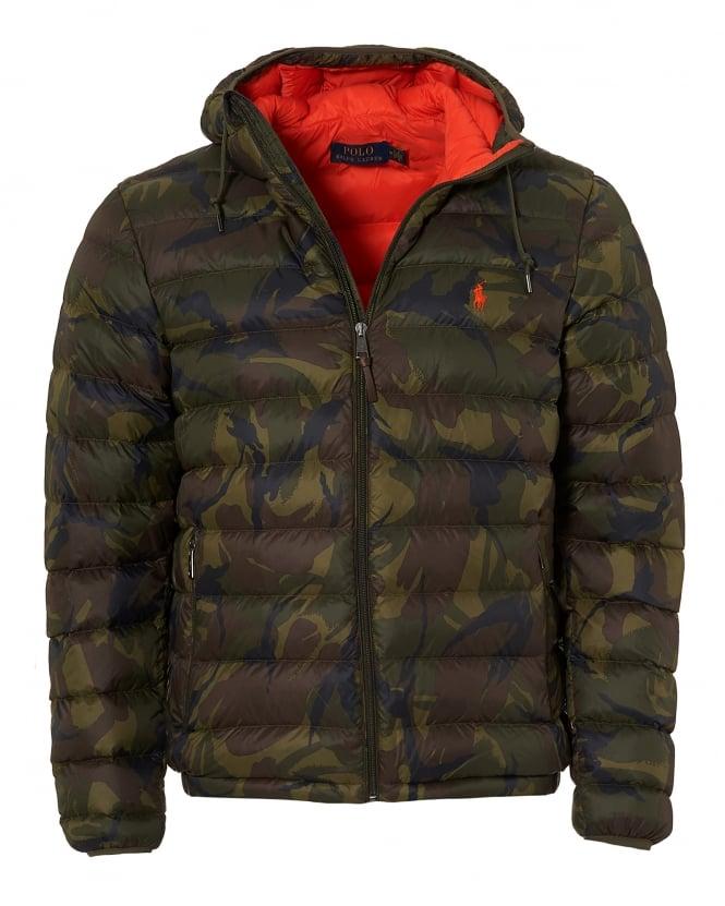 Repertoire Fashion Ralph Lauren Mens Camo Light Quilt Puffer, Camouflage Hooded Jacket