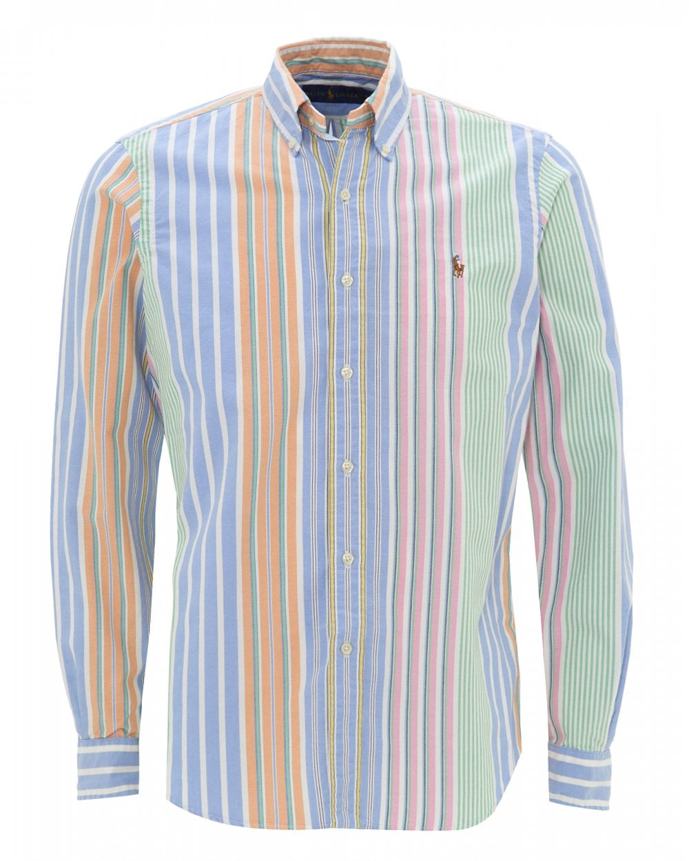 2cc4a6c3a Ralph Lauren Mens Classic Fit Striped Oxford Shirt