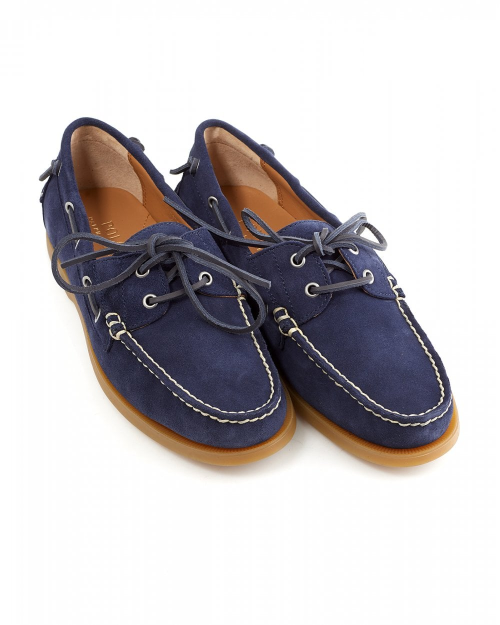 1f9c2ae8b Ralph Lauren Mens Classic Suede Newport Navy Blue Boat Shoes