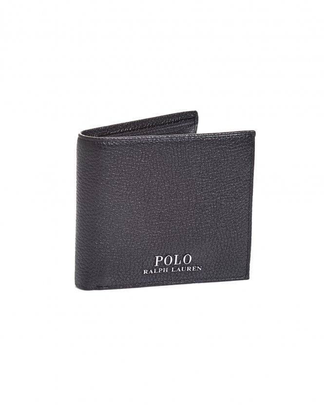 Ralph Lauren Mens Coin Pocket Black Leather Billfold Wallet thumbnail