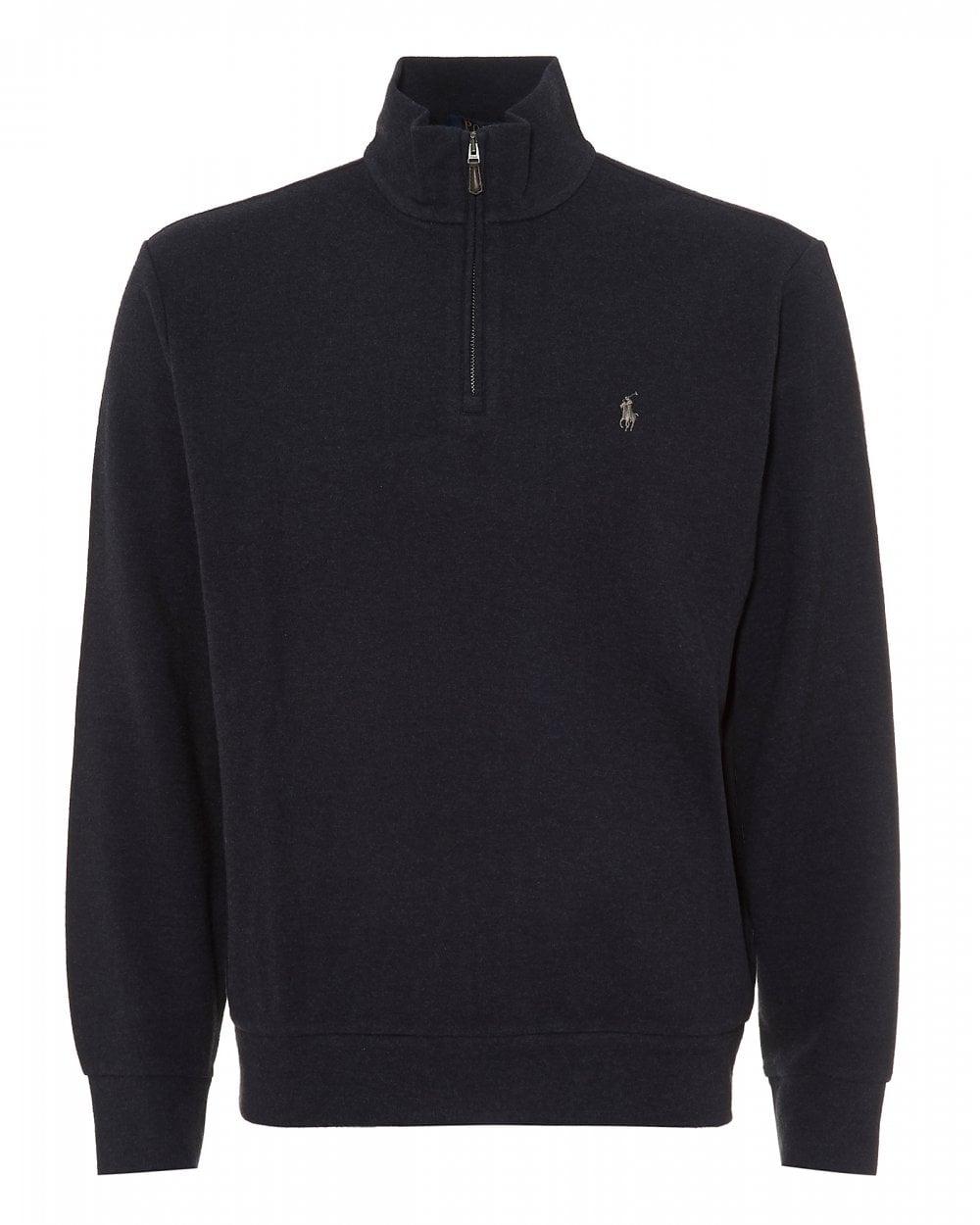 336d54eef6a0f9 Ralph Lauren Mens Half Zip Jumper, Hunter Navy Sweater
