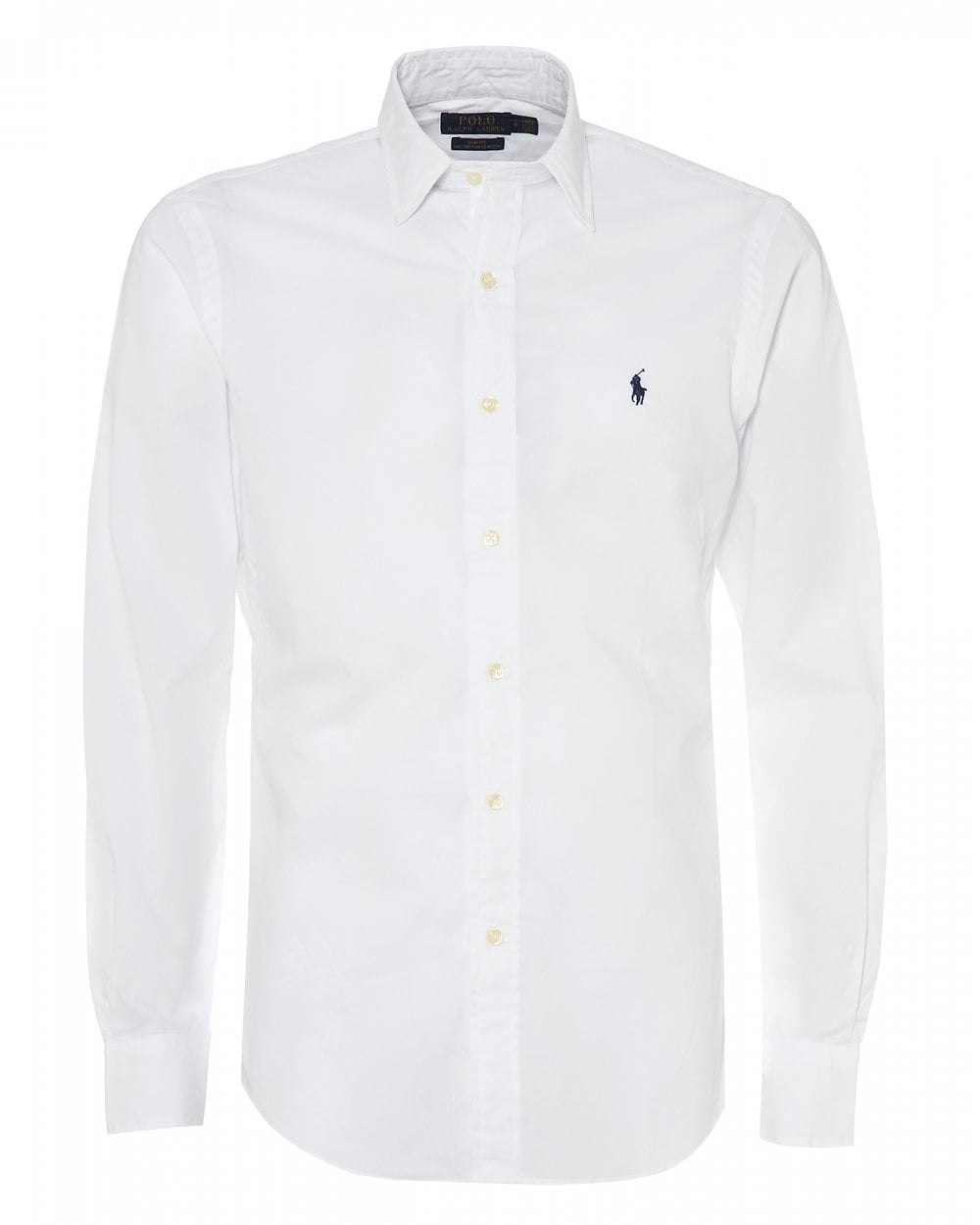 Ralph Lauren Mens Luxury Oxford Shirt White Slim Fit Shirt