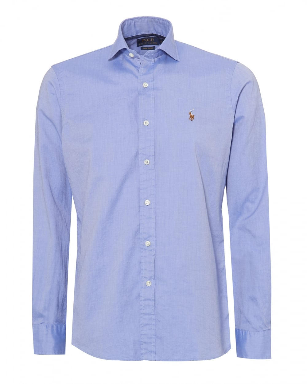 ba3fba1d57e7 Ralph Lauren Mens Luxury Oxford Slim Fit Blue Shirt