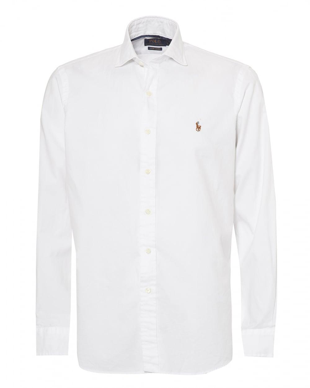 Ralph Lauren Mens Luxury Oxford Slim Fit White Shirt