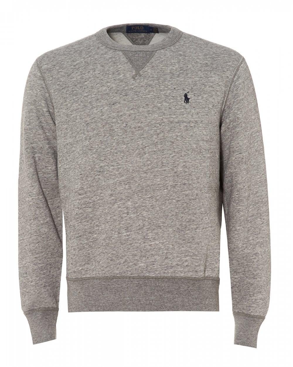 da85033df8a37 Ralph Lauren Mens Magic Fleece Sweatshirt, Grey Dark Vintage ...