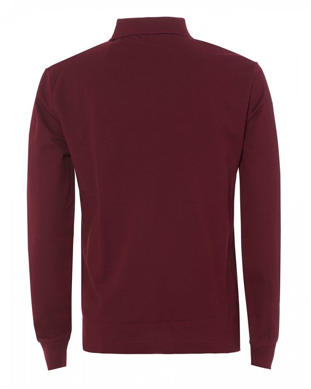 Polo Mesh Red Fit Mens ShirtBurgundy Slim XZOuPiTkw