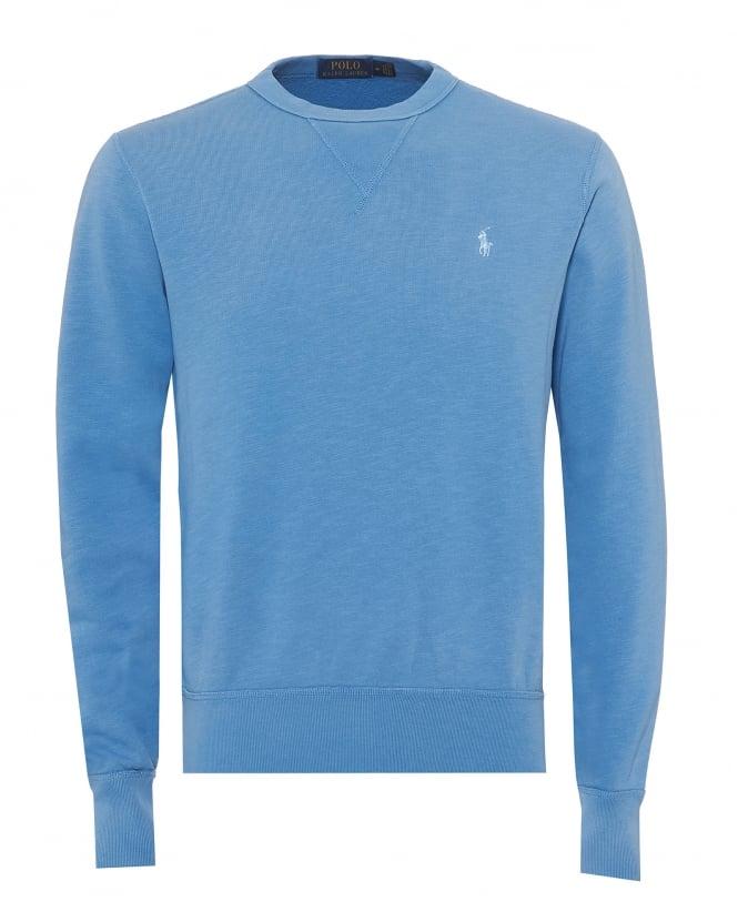 Ralph Lauren Mens Plain Logo Sweatshirt, Blue Crew Neck Sweat thumbnail