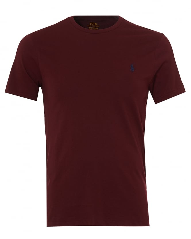 Ralph lauren mens plain t shirt burgundy short sleeve tee for Carhartt burgundy t shirt