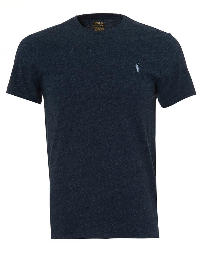 Ralph Lauren Mens Plain T-Shirt, Navy Blue Heather Short ...