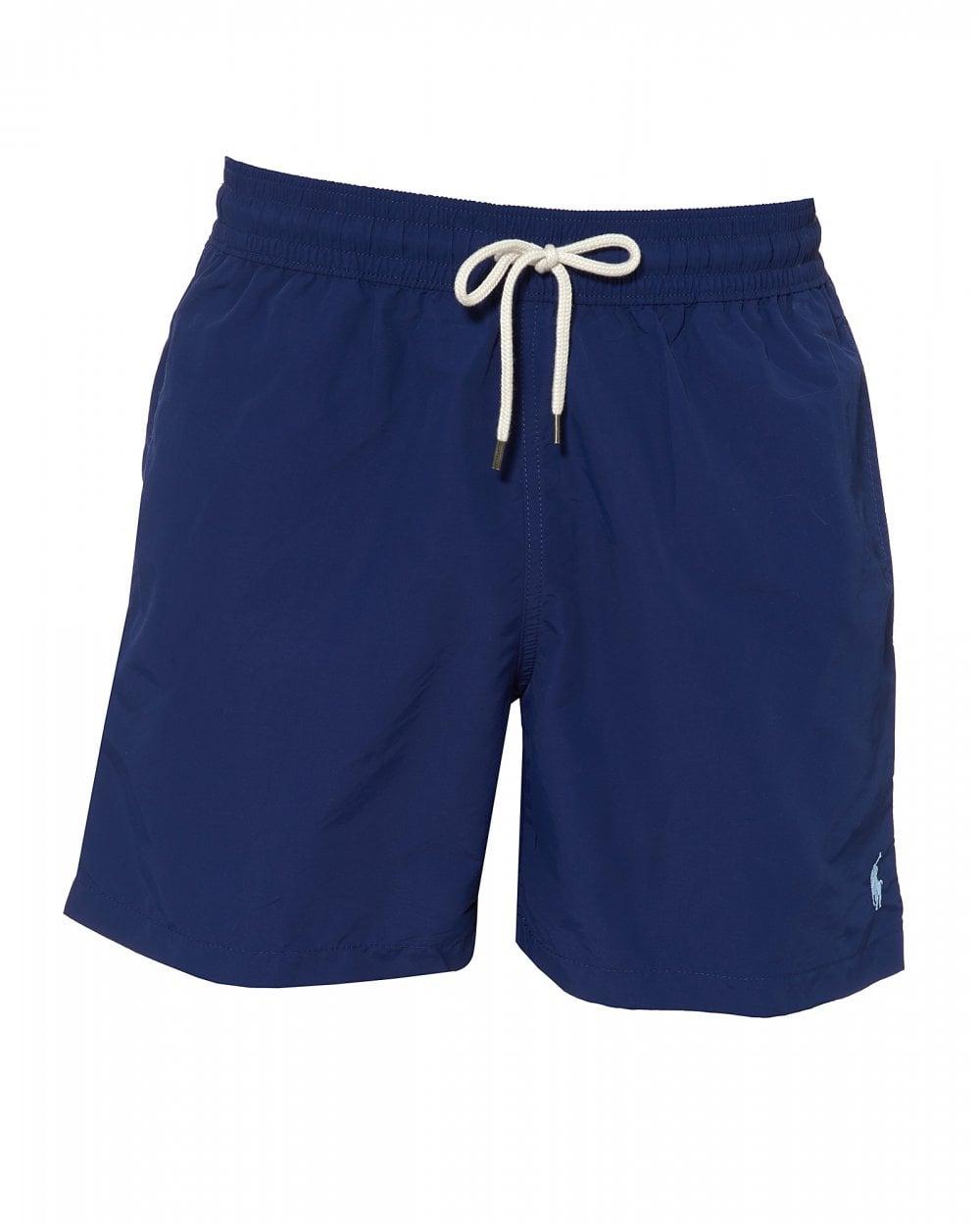 26b6f47680 Mens Plain Traveller Swimshorts, Holiday Navy Blue Swimming Trunks