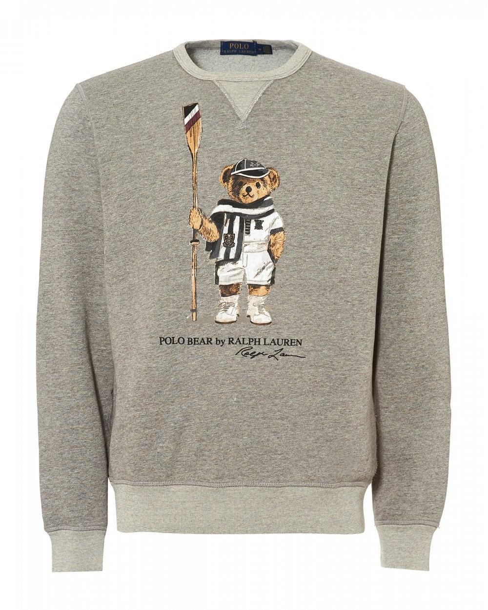d1c7cf52cf78 Ralph Lauren Mens Polo Bear Fleece Sweatshirt