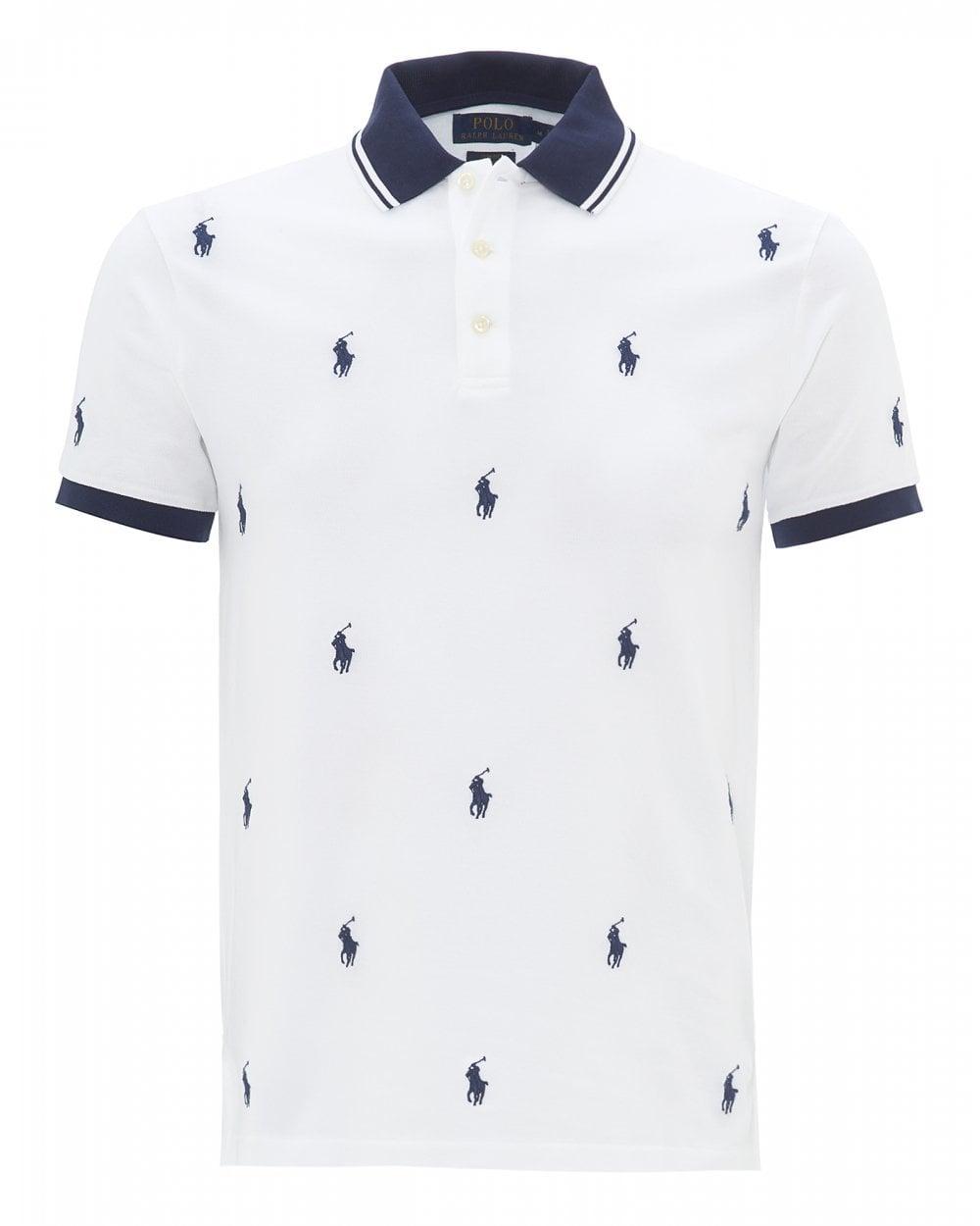 f72727b7 Ralph Lauren Mens Polo Player Logo Slim Fit Polo Shirt